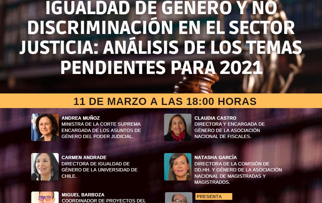 Participará la ministra de la Corte Suprema, Andrea Muñoz: Asociación Nacional de Fiscales organiza conversatorio sobre los desafíos para 2021 en temas de género y no discriminación en el sector justicia