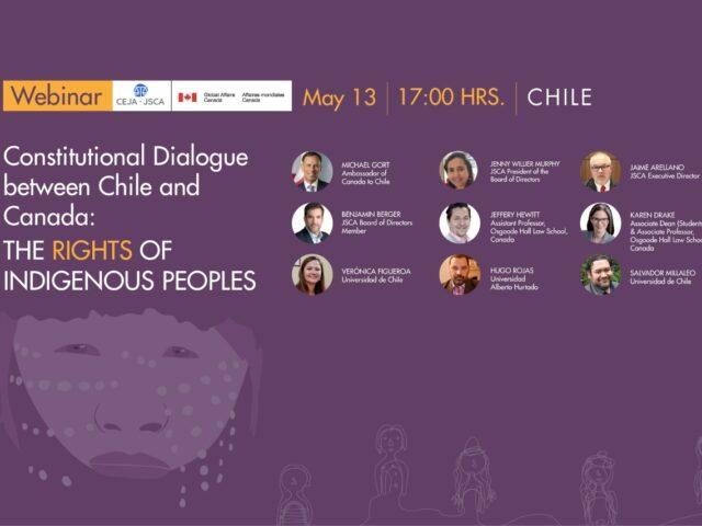Experiencia canadiense: Centro de Estudios de Justicia de las Américas realiza webinar sobre derechos de los pueblos originarios en la nueva Constitución